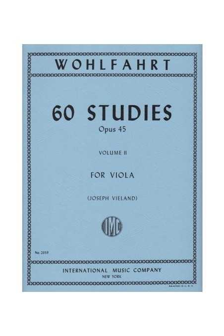 Wohlfahrt 60 Studies Op. 45 Bk 2 for Viola (IMC)