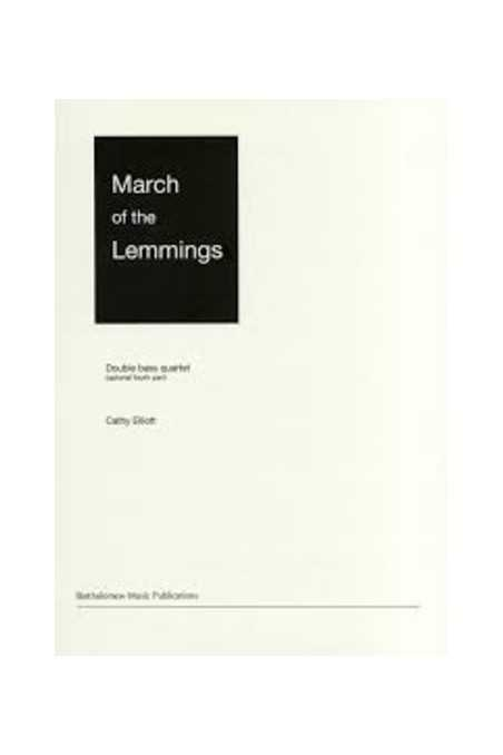 March Of The Lemmings For Double Bass Quartet By Catherine Elliott
