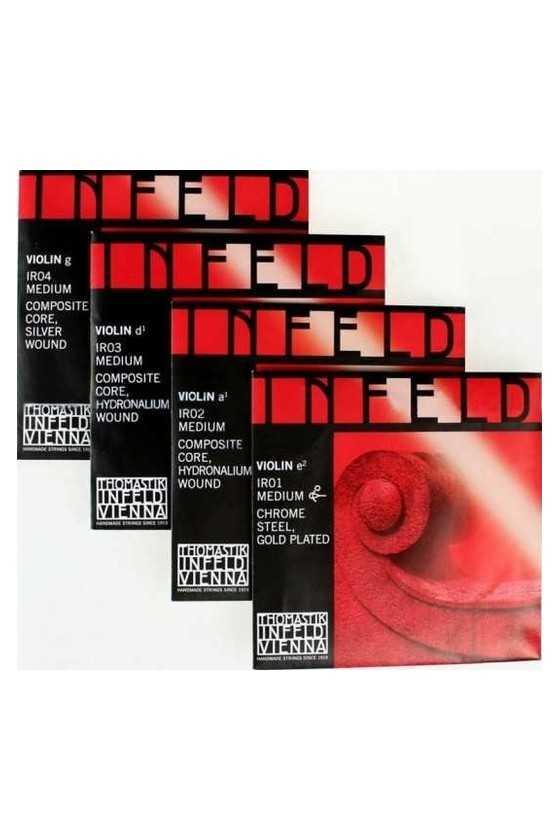 Infeld Red Violin String Set - Medium Composite Core