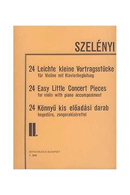 Szelenyi 24 Easy Little Concert Pieces For Violin And Piano (EMB)