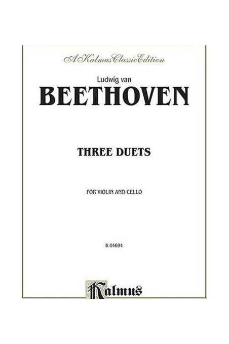 Beethoven 3 Duets For Violin & Cello (Kalmus)