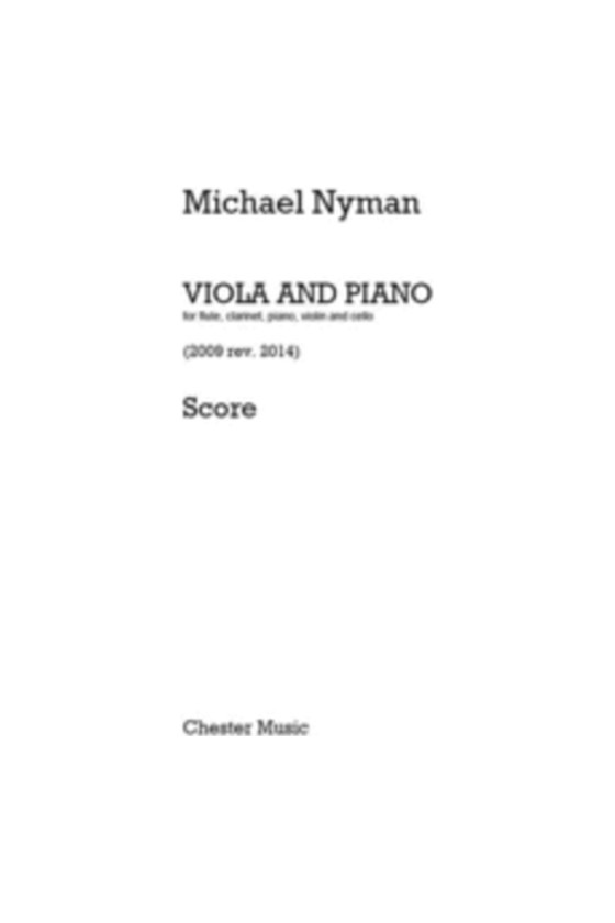 Nyman For Viola And Piano...
