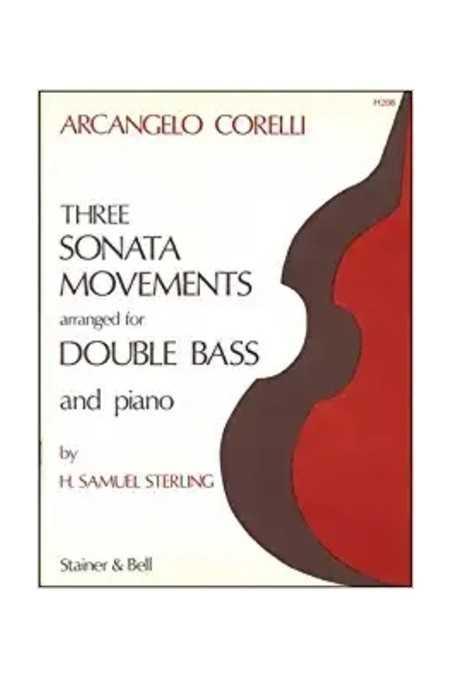 Corelli, Three Sonata Movements For Double Bass And Piano (S&B)