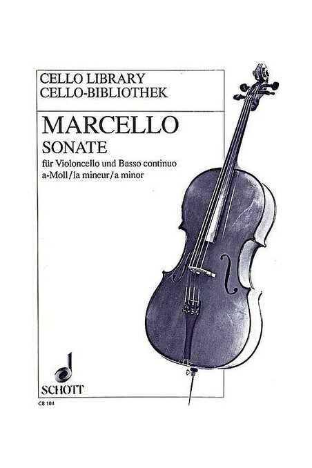 Marcello, Sonata In A Minor For Cello And Piano (Schott)