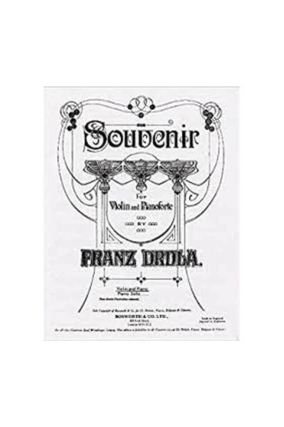 Drdla Souvenir For Violin...