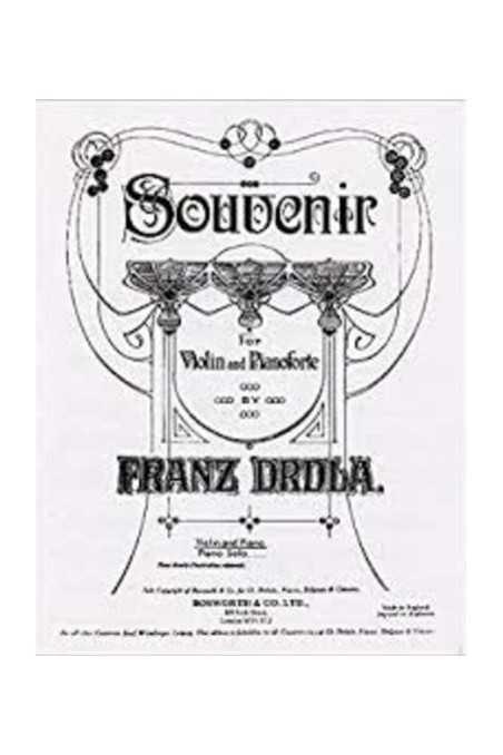 Drdla Souvenir For Violin And Piano (Bosworth)