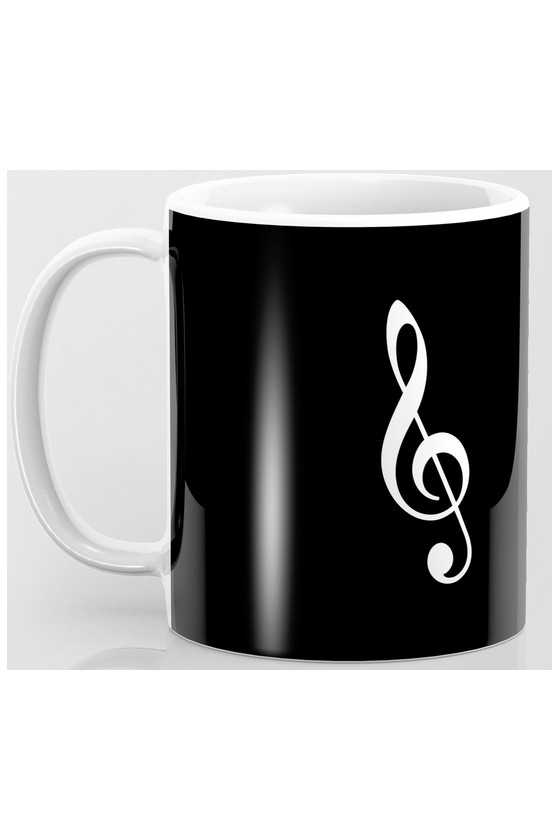 Black Mug with White Treble...