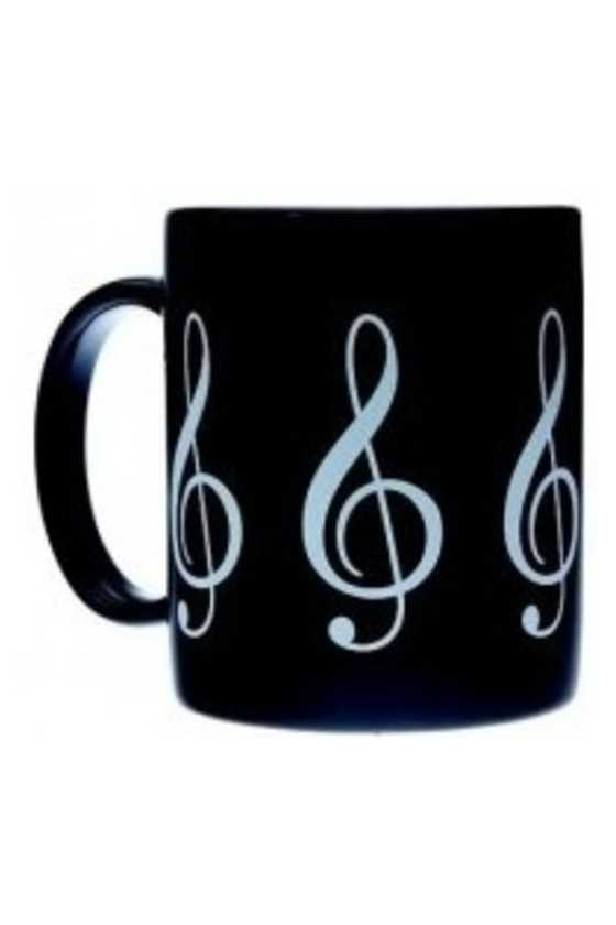 Mug Music Design G Clef Black