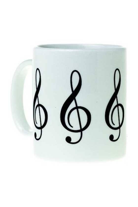 Mug Music Design G Clef White