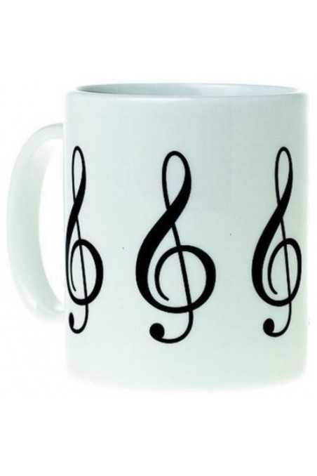 Mug Music Design G Clef White