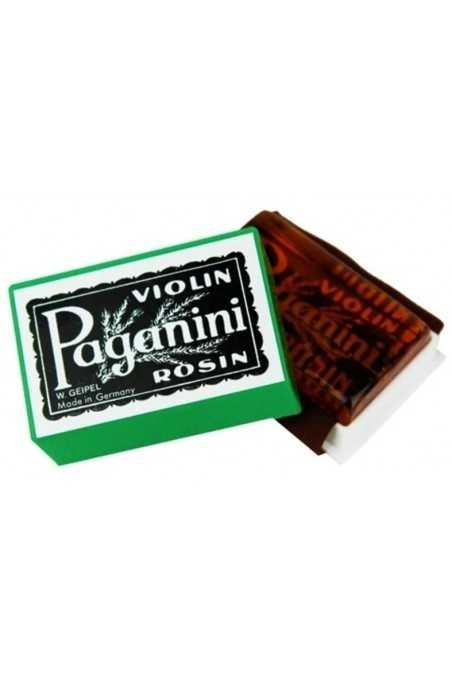 Paganini Violin Rosin in Green Plastic Case