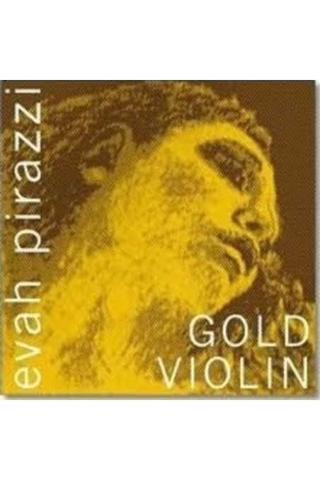 4/4 Evah Pirazzi Gold Violin E String Stainless Steel (Ball End)