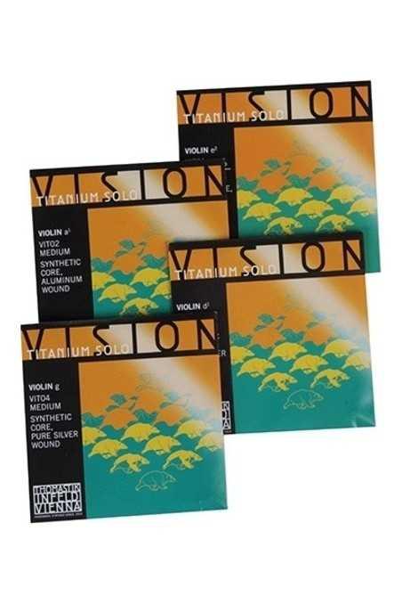 Vision Titanium Violin Solo String Set