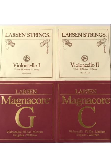 Larsen Medium A & D and Magnacore G & C Cello Set