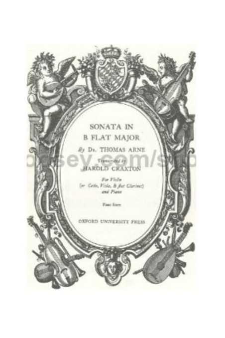 Sonata In B Flat Major By Thomas Arne