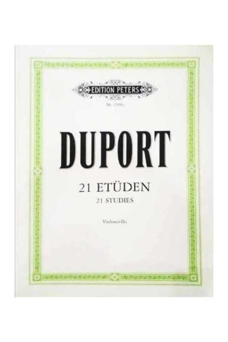 Duport, 21 Studies For Cello (Peters)