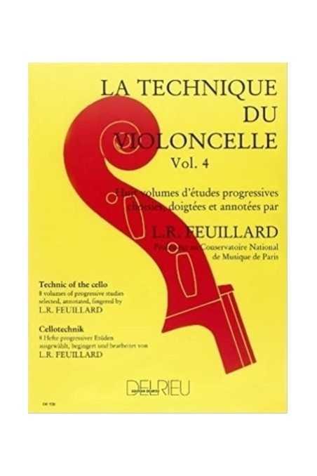 Feuillard, Technique For Cello Vl 4 (Delrieu)