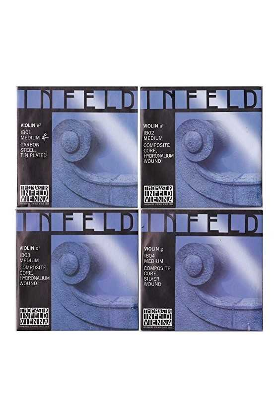 Infeld Blue Violin String Set - Medium Composite Core (Blue)