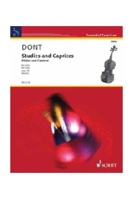 Dont Studies And Caprices For Viola (Schott)