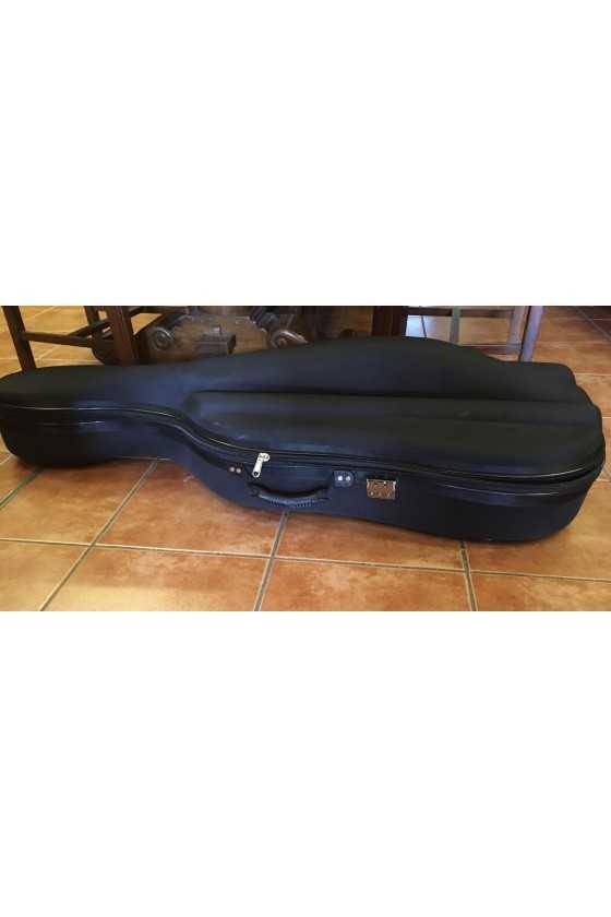 Black Hard Cello Bag With Straps