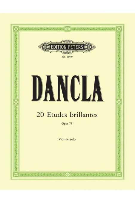 Dancla, 20 Etudes Brillantes Op. 73 for Solo Violin (Peters)