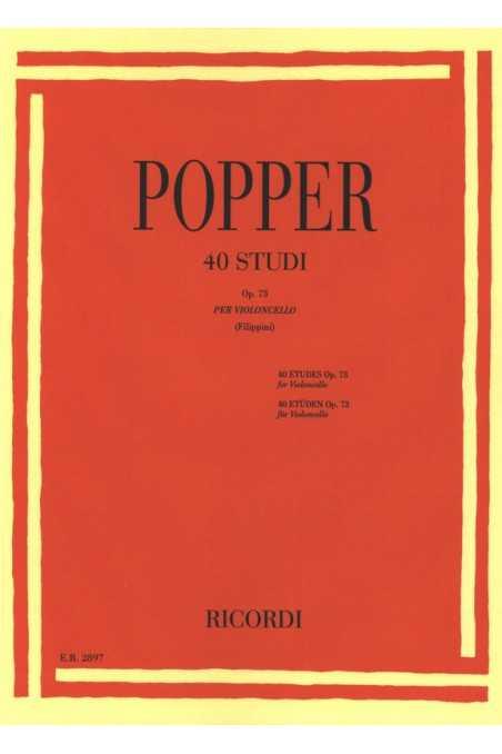 Popper, 40 Studies for Cello Op. 73 (Ricordi)