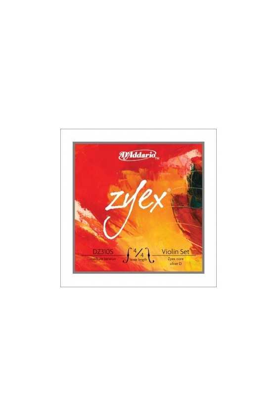 Zyex Violin Strings Set With Silver D DZ310S