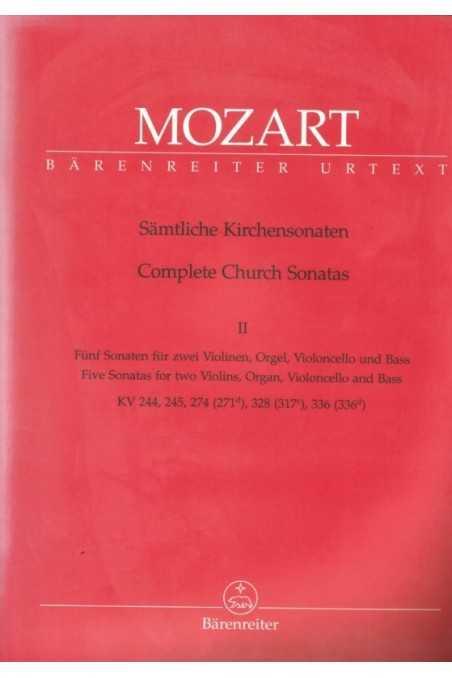 Mozart Complete Church Sonatas Bk 2 (Barenreiter)