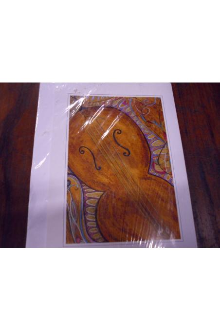 "Beautiful Post Card- ""Cello"""