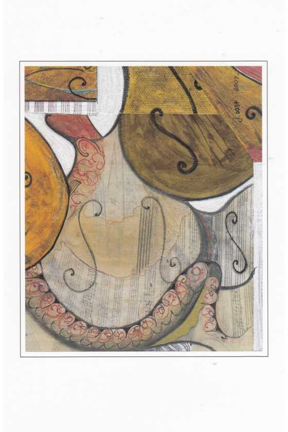 Music Theme Greeting Cards Package of Five 'Combination C'