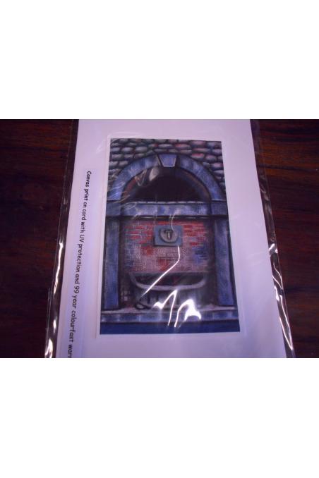 """Beautiful Post Card-"""" Public Spa tap"""", Ponte a Serraglio, Bagni di Lucca"""