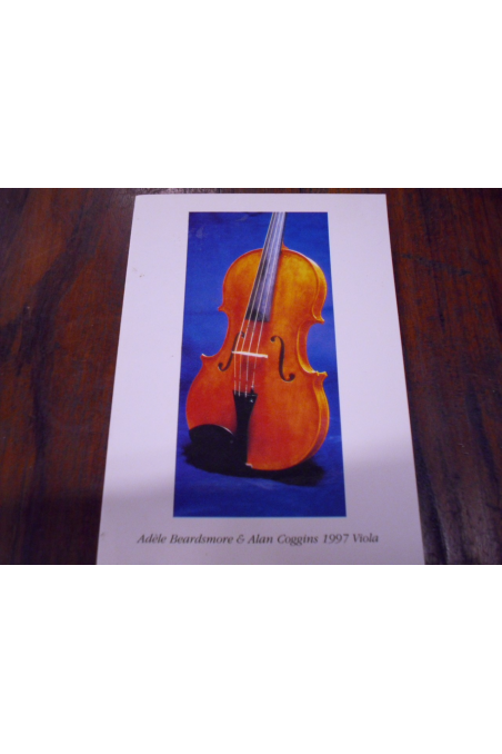 "Beautiful Post Card- ""Viola- Adele Beardsmore &Alan Coggins 1997"""