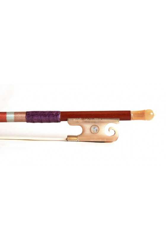 Violin Bow with Ornate Horn Frog