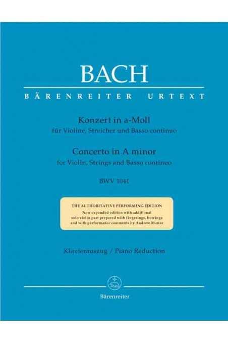 Bach, Violin Concerto In A Minor BWV 1041 (Baerenreiter)