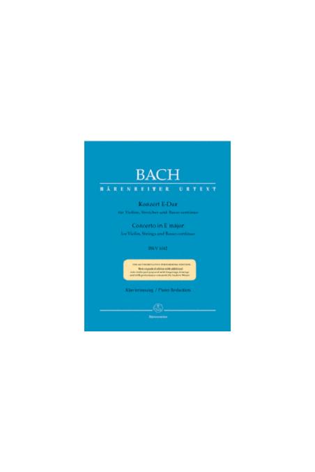 Bach Concerto in E maj BWV 1042 (Barenreiter) - Ed. Andrew Manze