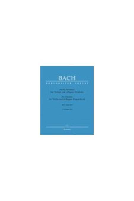 Bach Six Sonatas for violin and obbligato Harpsichord: Sonatas 1-3 (Barenreiter)