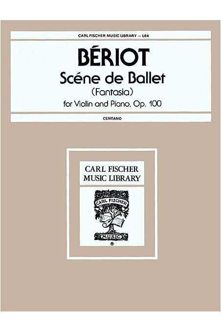 Beriot, Scene de Ballet Op 100 Violin/Piano (Fisher)