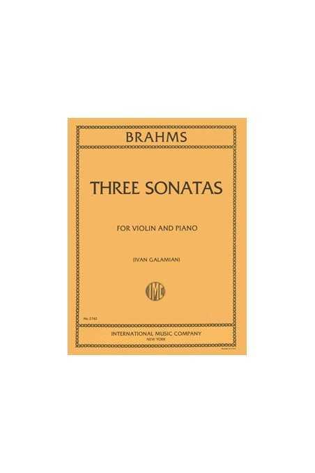 Brahms Three Sonatas Op 78, 100, 108 for violin and Piano (IMC)