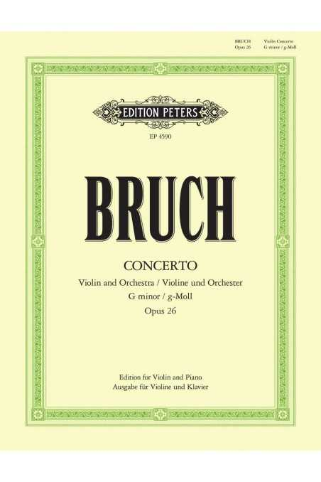 Bruch, Op. 26 Concerto in G Minor for Violin and Piano, edited by Stross (Peters)