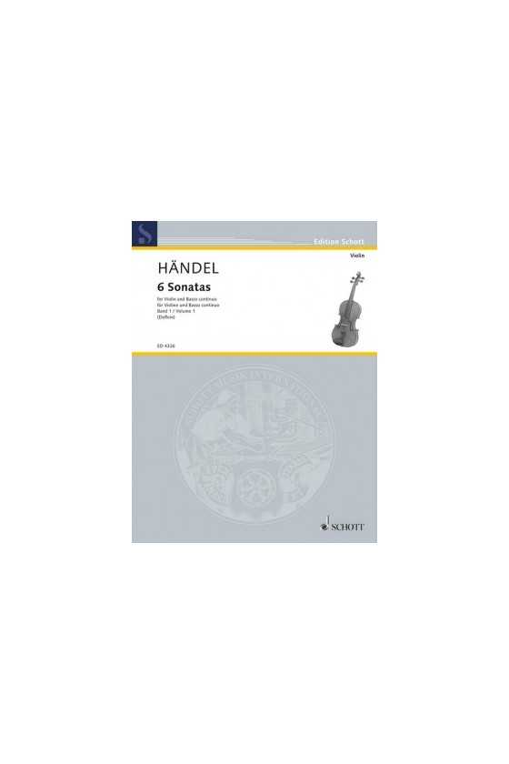 Handel, 6 Sonatas for Violin and Piano, Vol 1/2 (Schott)