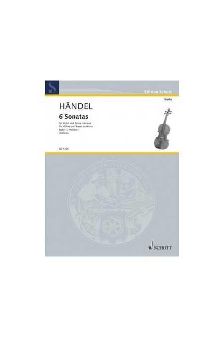 Handel, 6 Sonatas for Violin and Piano, Vol 1/2 (Schott)
