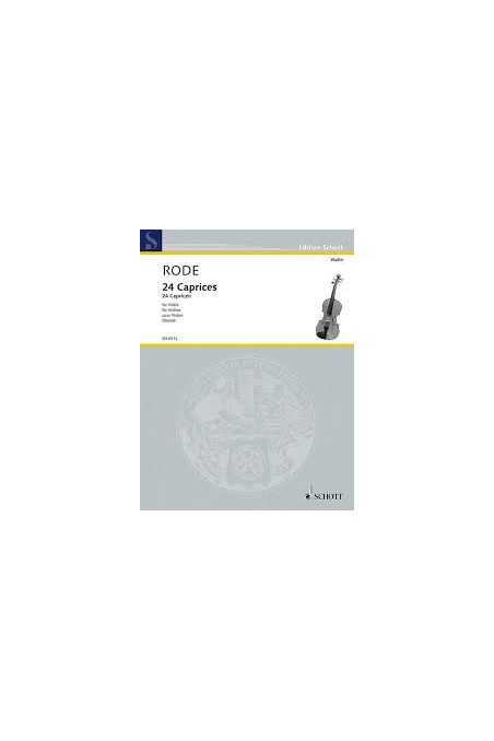 Rode, 24 Caprice for violin ( Schott)