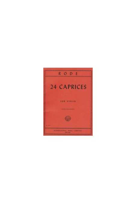 Rode, 24 Caprices for Violin Ed by Galamian (IMC)