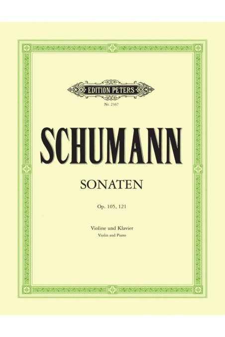 Schumann Violin Sonatas Op. 105 and Op. 121 (Peters)
