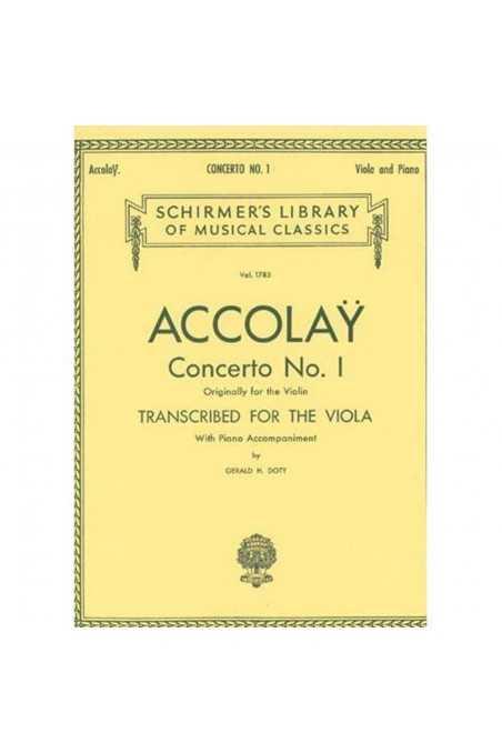 Accolay, Concerto No. 1 In A Minor for Viola with Piano (Schirmer)