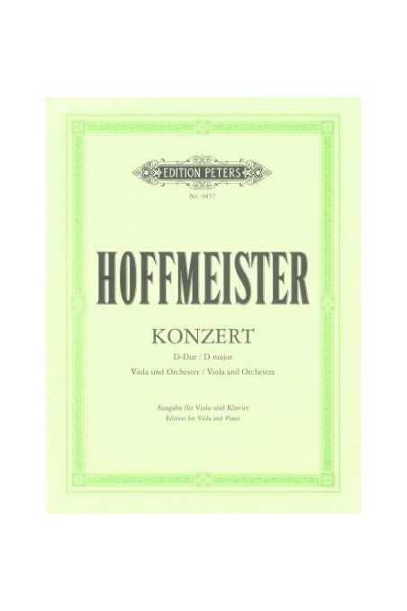 Hoffmeister Concerto in D Major for viola (Peters)