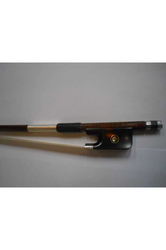 Brown Carbon Viola Bow With Pernambuco Look