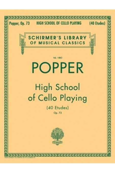 Popper, High School of Cello Playing Op. 73 (Schirmer)