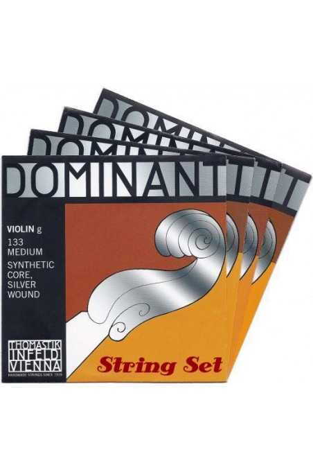Dominant Violin String Set with Steel E