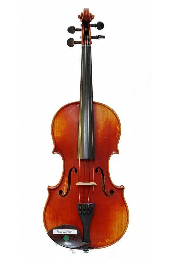 German Strad Violin Copy Crack Repair